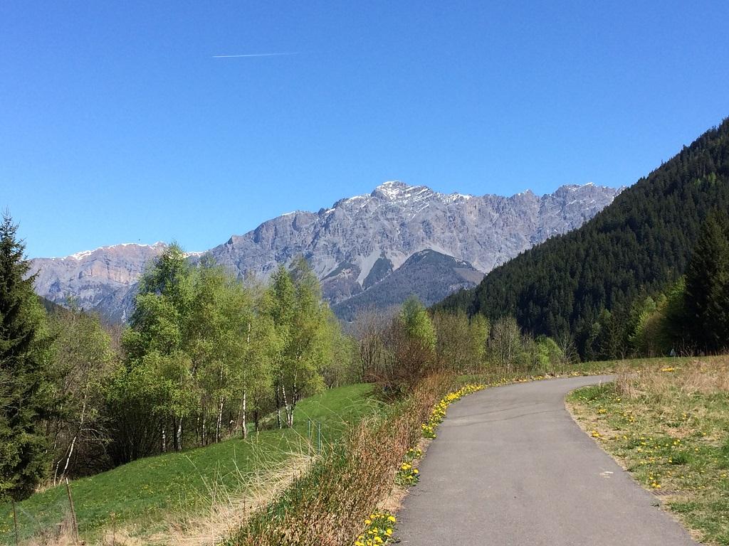 Montagne dalla pista