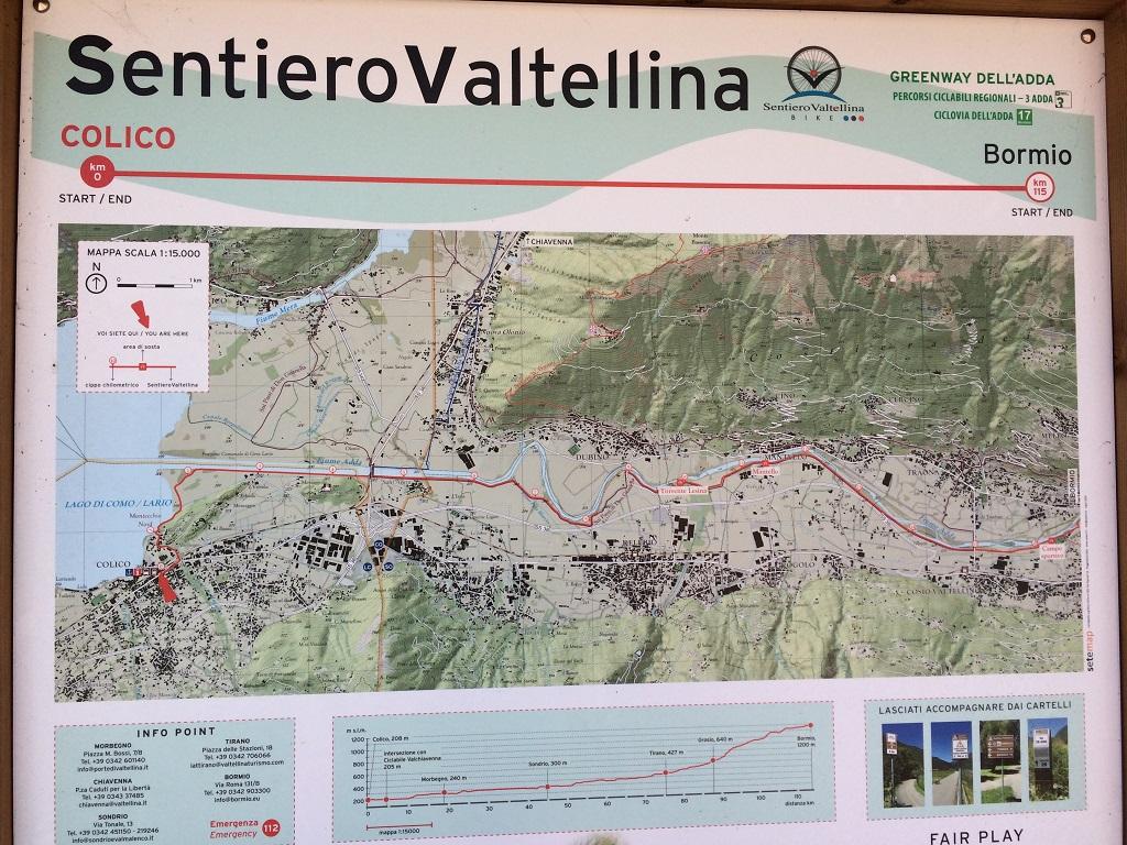 Sentiero Valtellina Indicazioni